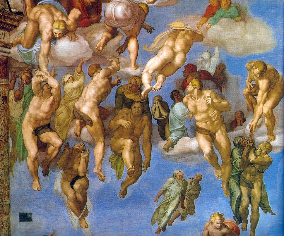 Michelangelo, giudizio universale, dettagli 33