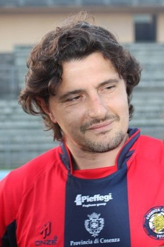Michele Padovano - Padovano in a Cosenza shirt in 2008