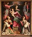 Michele tosini, madonna col bambino incoronata dagli angeli tra le ss. agnese e cecilia e novizi domenicani 01.jpg
