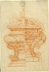 Design for a reliquary in the form of a tomb