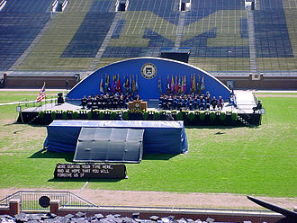Michigan Stadium - Image: Michigan Stadium Graduation 0001