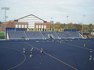 Michigan Wolverines field hockey - Phyllis Ocker Field before a game in October 2014