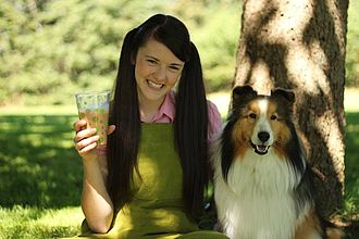 "Mickey's Farm - Megan and Mickey the dog from ""Mickey's Farm"""