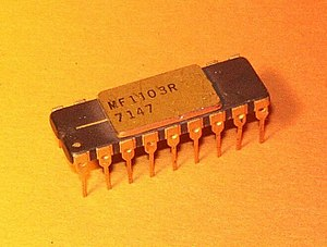 Microsystems International - DRAM MIL MF1103R, second source of the Intel 1103