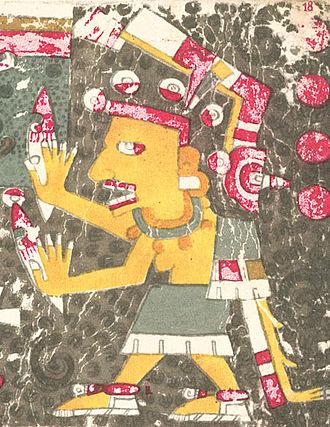 Mictēcacihuātl - Mictēcacihuātl as depicted in the Codex Borgia