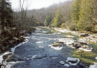 Middle Fork River - The Middle Fork River in Audra State Park in 2005