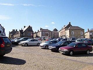 Middleham town in Richmondshire, United Kindom
