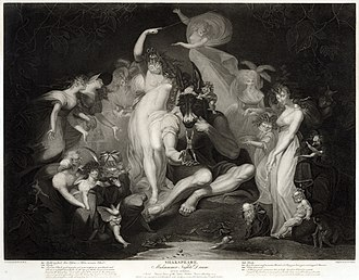 A Midsummer Night's Dream - A Midsummer Night's Dream act IV, scene I. Engraving from a painting by Henry Fuseli, published 1796