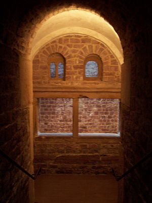 Jewish courtyard - View downstairs