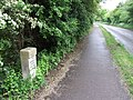 Milestone by Road and Cycle path - geograph.org.uk - 435990.jpg