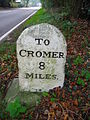 Milestones on the A148 22nd October 2007 (4).JPG