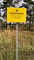 Military training ground Großmittel-warning sign at border-training area de-ar-9to16 PNr°0509.jpg