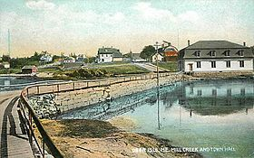 Mill Creek and Town Hall, Deer Isle, ME.jpg