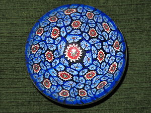 "English: Decorative glass paperweight ""mi..."