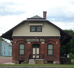 Milton's old railroad depot and current borough office.