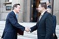 Ministru prezidenta Valda Dombrovska tikšanās ar Apvienotās Karalistes Ministru prezidentu Deividu Kameronu (8514461975).jpg