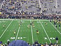 Minnesota vs. Michigan 2011 01 (Michigan warming up).jpg