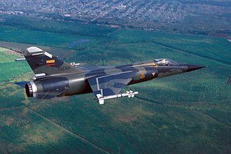 "Dassault Mirage F1 - An Ecuadoran Mirage F.1JA during the joint US/Ecuadoran exercise ""Blue Horizon '86""."
