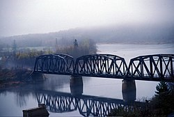 Main Southwest Miramichi River in Doaktown (IR Walker 1988)