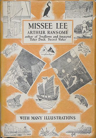 Women in piracy - Arthur Ransome's novel Missee Lee (1941), about a Chinese female pirate. The book, part of a series of children's books, is set in 1930s China. (dustjacket is shown)
