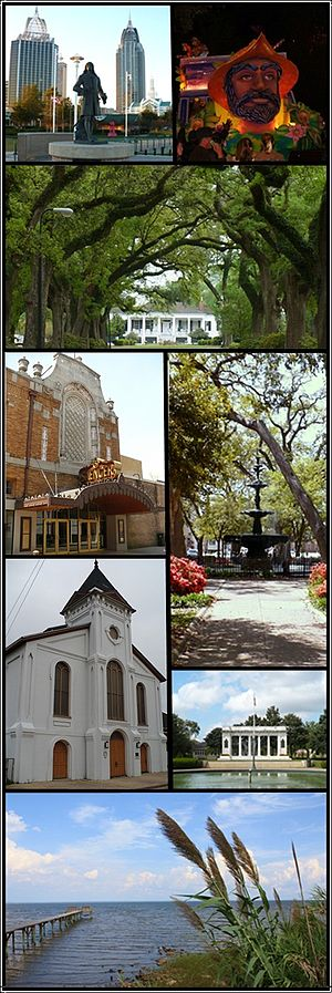 English: Montage of sights in Mobile, Alabama.