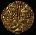 Monete d'oro di giustiniano II e tiberio IV, 705-711, 02, 6.jpg