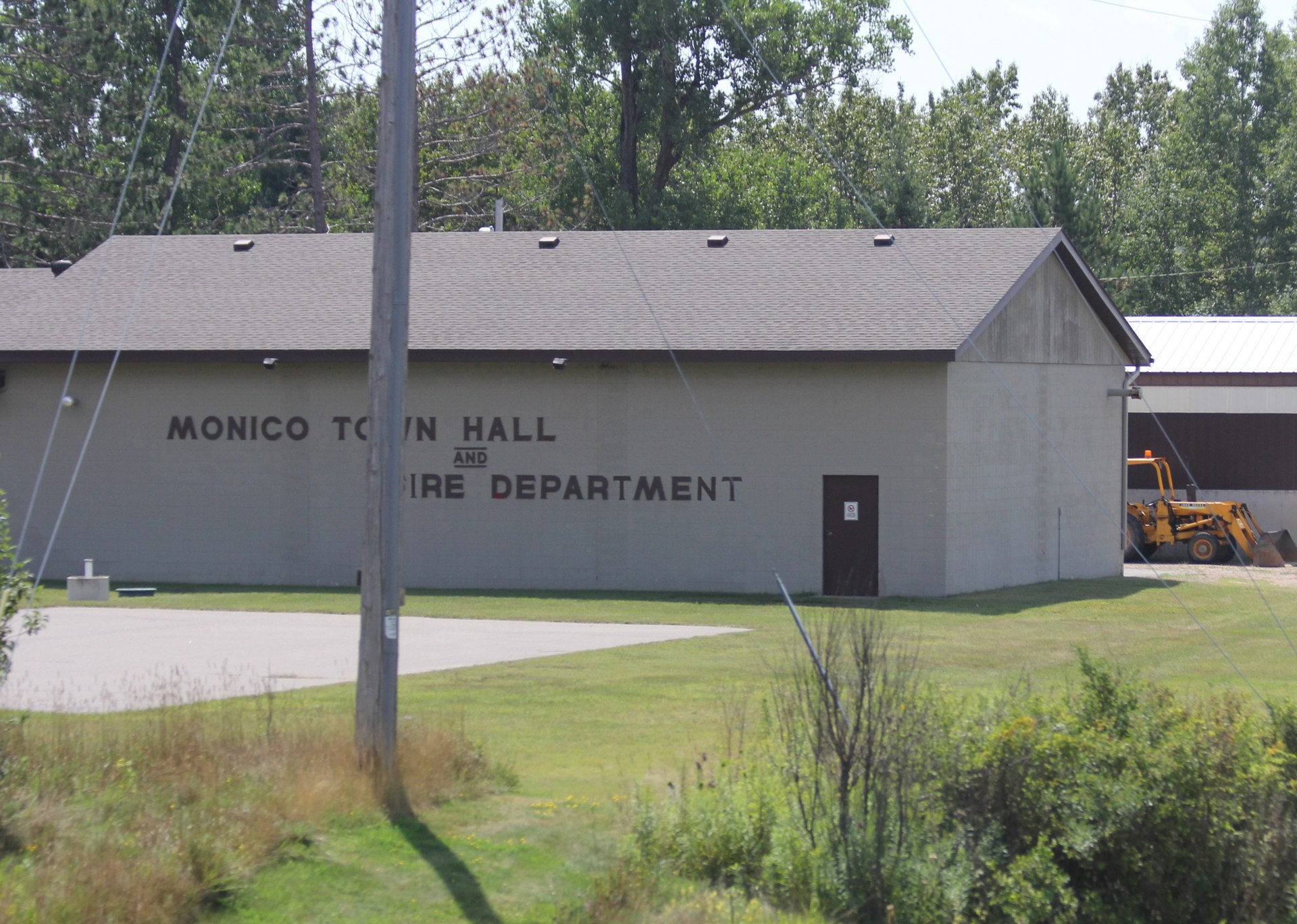 Px Monico Wisconsin Town Hall And Fire Dept