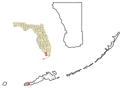 Monroe County Florida Incorporated and Unincorporated areas Stock Island Highlighted.svg