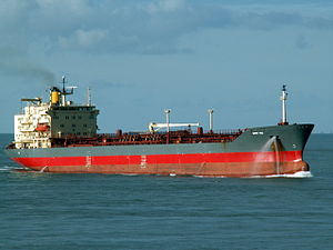 Mont Ace p3 approaching Port of Rotterdam, Holland 11-Feb-2006.jpg