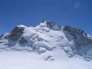 Mont Maudit mountain in the Alps