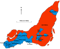 City of Montreal and enclave municipalities