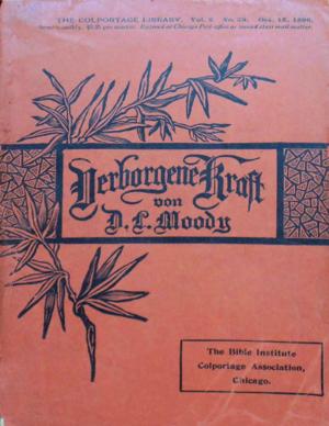 Colportage - Moody, D. L. (1896). Verborgene Kraft. Colportage Library Vol.2 No.39, 1st Edition.