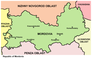 Mordovia - Map of the Republic of Mordovia