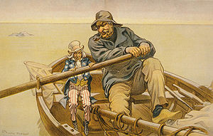 J. P. Morgan - Morgan's role in the economy was denounced as overpowering in this political cartoon