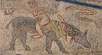 A Roman mosaic in Volubilis.