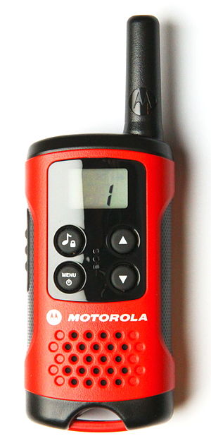 PMR446 - Motorola TLKR T40 radio tuned to PMR channel 1