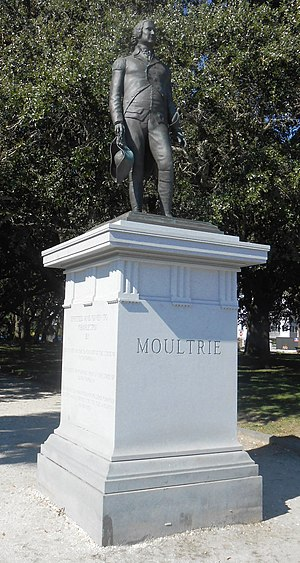 William Moultrie - The William Moultrie Monument stands in White Point Garden in Charleston, South Carolina.
