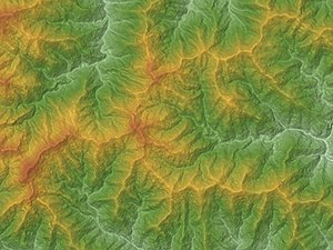 Mount Kumotori - Image: Mount Kumotori Relief Map, SRTM 1
