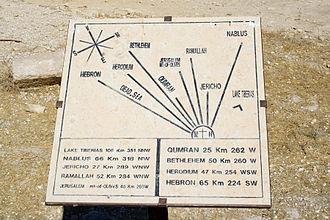Mount Nebo - Image: Mount Nebo Distances