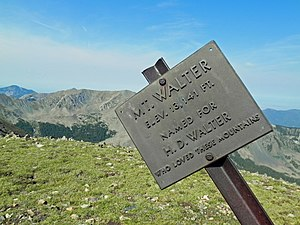 Mount Walter (New Mexico) - Image: Mount Walter Sign