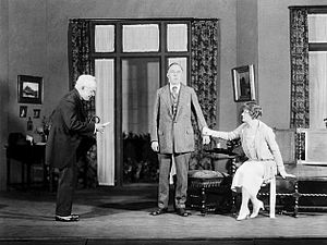 Erskine Sanford - Erskine Sanford, Dudley Digges and Laura Hope Crews in the Theatre Guild production of A. A. Milne's Mr. Pim Passes By (1921)