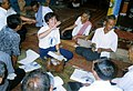 Mrs. Dy Ratha Explains AIDS Prevention at the Veal Sboa Pagoda inThailand, circa 1990. (13875962854).jpg