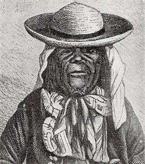Msiri - Msiri portrayed in a 1886 book.