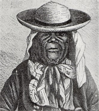 Msiri - Msiri portrayed in a 1886 book.