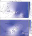 MtDNA haplogroup B4a and B4a1a1 in Island Southeast Asia and the western Pacific.png