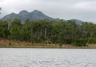 Castle Tower National Park - Mt Castle Tower from Lake Awoonga