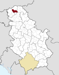 Location of the municipality of Bačka Topola within Serbia