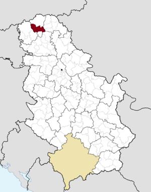 Bačka Topola - Image: Municipalities of Serbia Bačka Topola