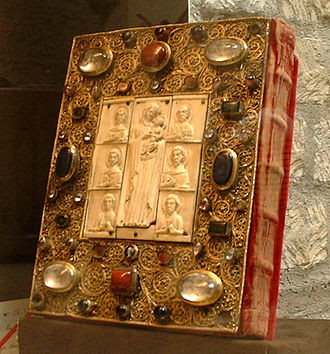 Byzantine literature - A Byzantine Gospel of the 13th century, it shows the increasing trend towards the use of Ivory as an artistic tool.