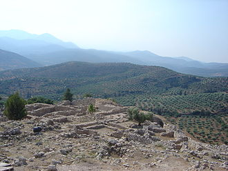 Mycenae - View from the acropolis, or high city.